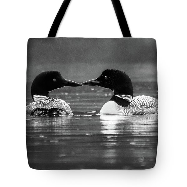 Tote Bag featuring the photograph Loving Loons by Darryl Hendricks