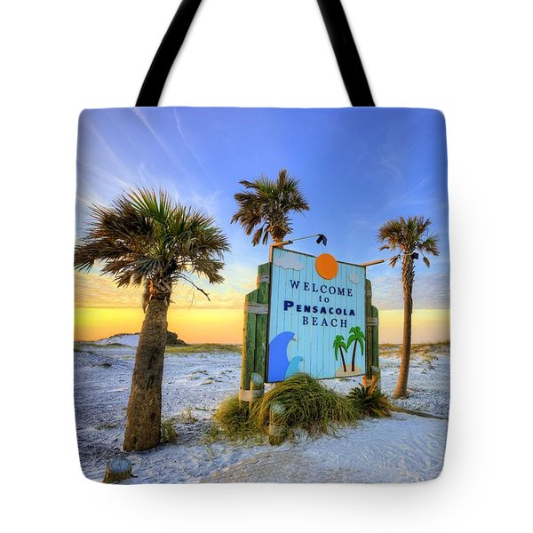 Tote Bag featuring the photograph Loving Pensacola Beach by JC Findley