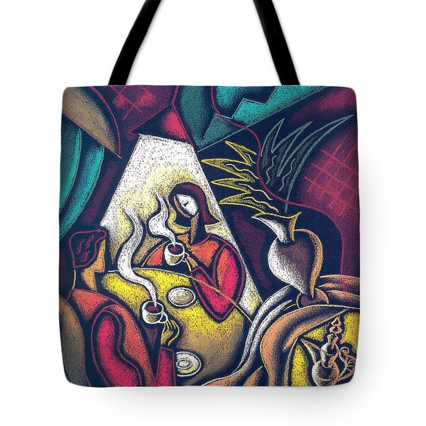 Tote Bag featuring the painting Loving Relationship by Leon Zernitsky