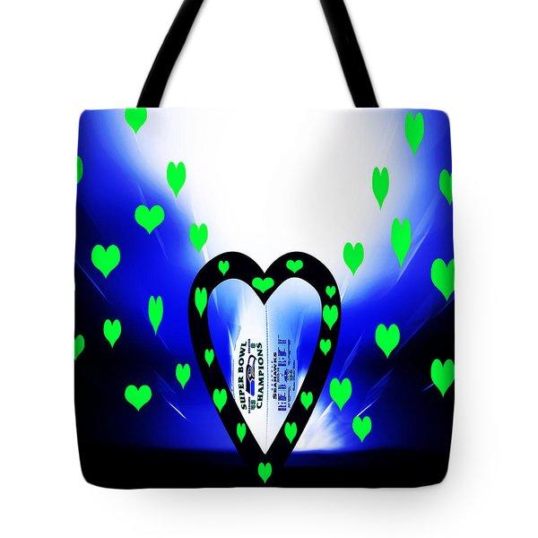 Loving The Seattle Seahawks Tote Bag by Eddie Eastwood