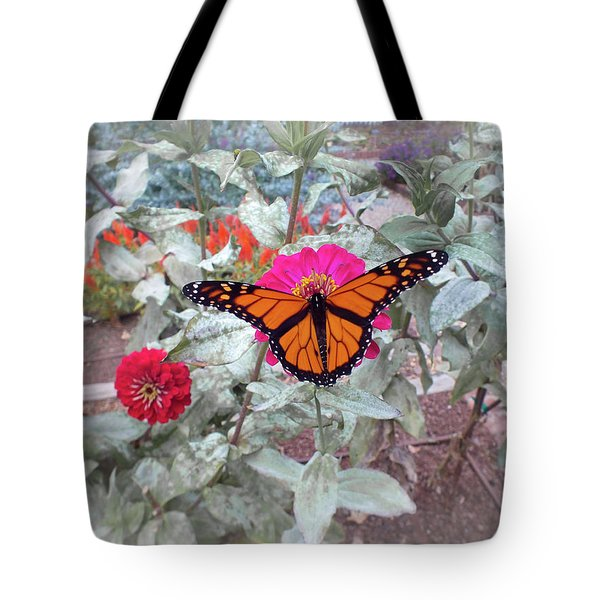 Loving The Zinnias Tote Bag