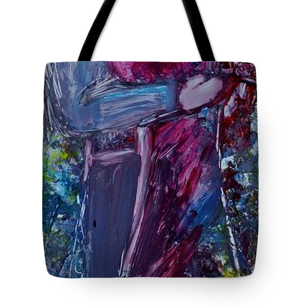 Tote Bag featuring the painting Loving You by Deborah Nell