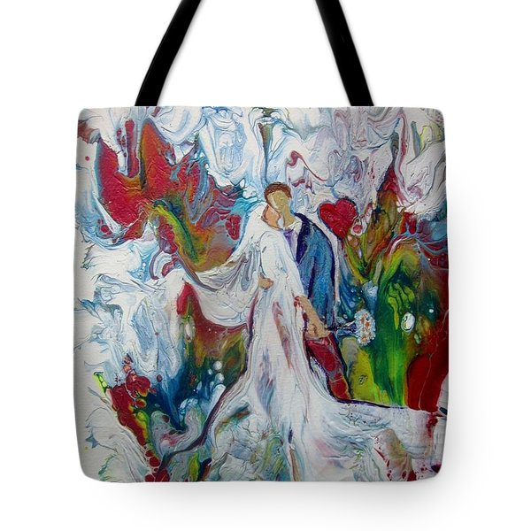 Tote Bag featuring the painting Loving You With All My Heart by Deborah Nell