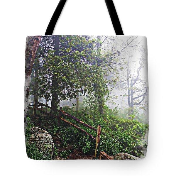Low Clouds On Neels Gap Tote Bag