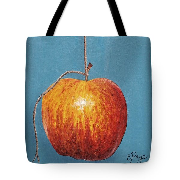 Low Hanging Apple Tote Bag by Emily Page