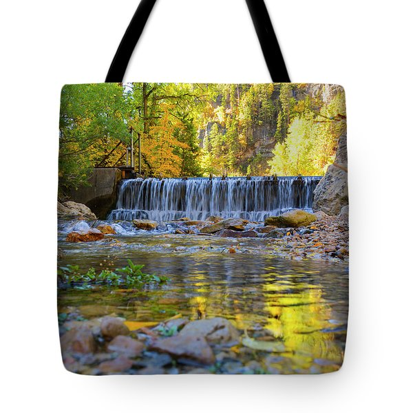 Low Look At The Falls Tote Bag