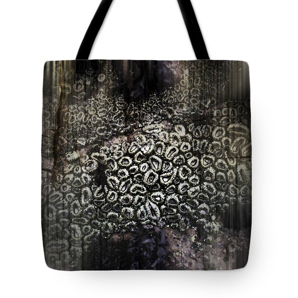 Low Tide Abstraction Tote Bag by Steve Siri
