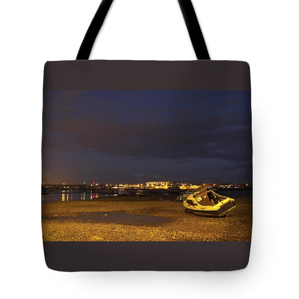 Low Tide At Dusk Tote Bag