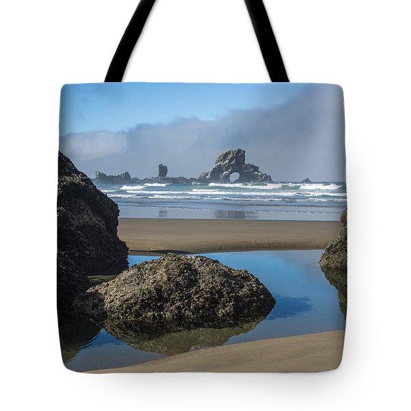 Low Tide At Ecola Tote Bag