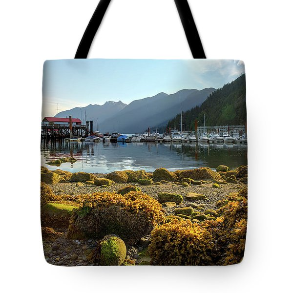 Low Tide At Horseshoe Bay Canada Tote Bag by David Gn