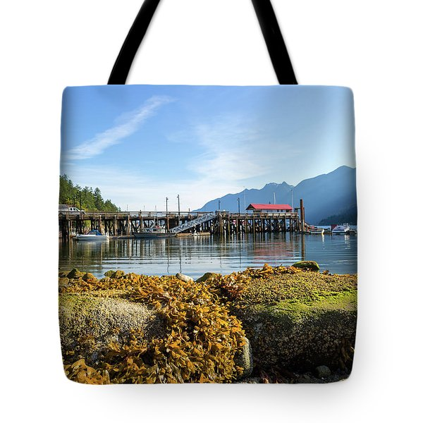 Low Tide At Horseshoe Bay Canada On A Sunny Day Tote Bag by David Gn
