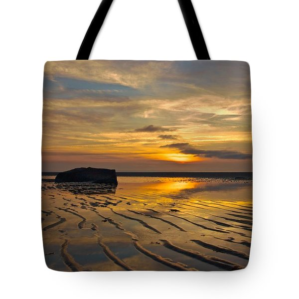 Tote Bag featuring the photograph Low Tide At Mayflower Beach by Amazing Jules