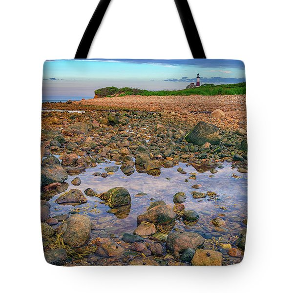 Low Tide At Montauk Point Tote Bag by Rick Berk