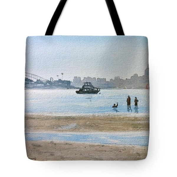 Tote Bag featuring the painting Low Tide At Rose Bay by Debbie Lewis