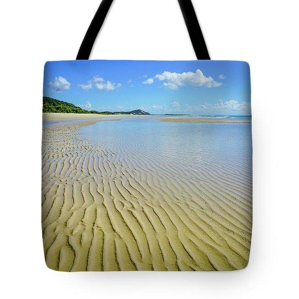 Low Tide Beach Ripples Tote Bag