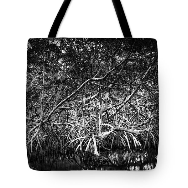 Low Tide Bw Tote Bag