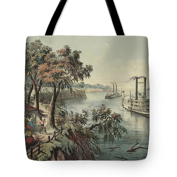 Low Water In The Mississippi, 1868  Tote Bag