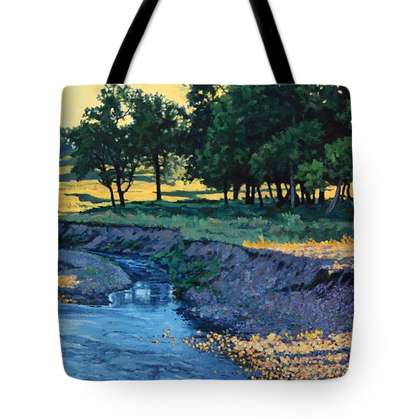 Low Water Morning Tote Bag