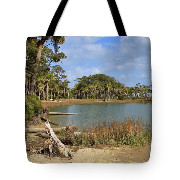 Lowcountry Lagoon Tote Bag by Louise Heusinkveld