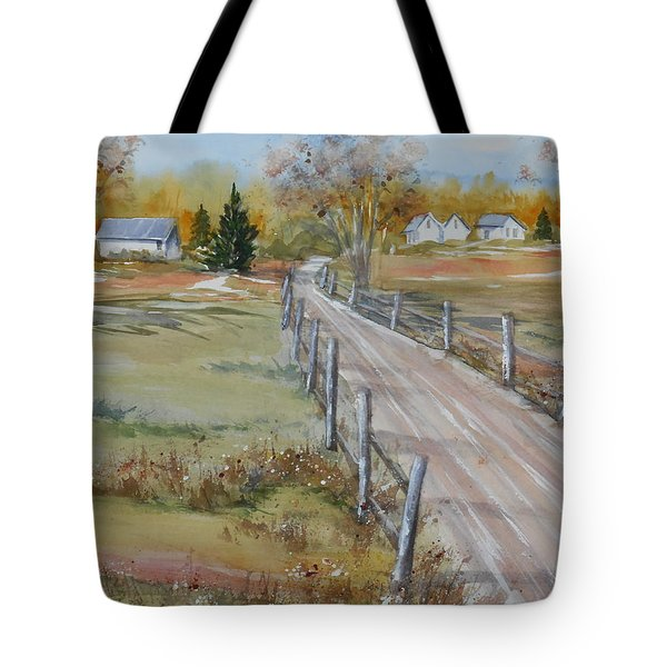 Lowcountry Road In Spring Tote Bag