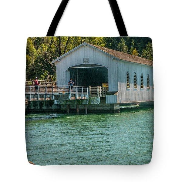Lowell Covered Bridge Tote Bag