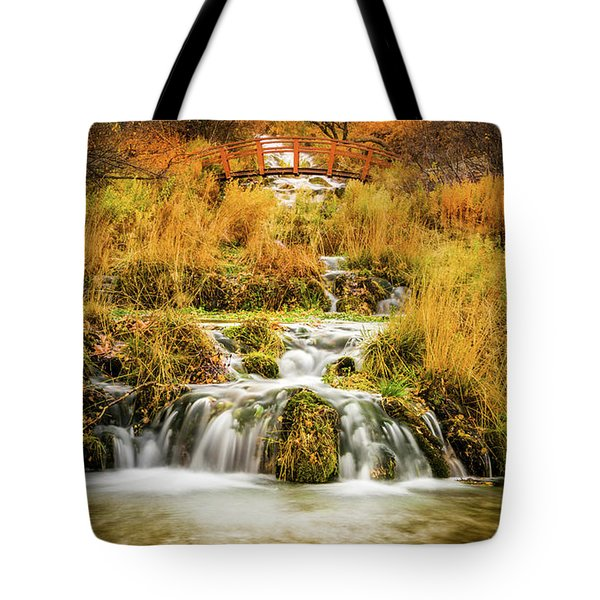 Lower Cascades At Cascade Springs Tote Bag