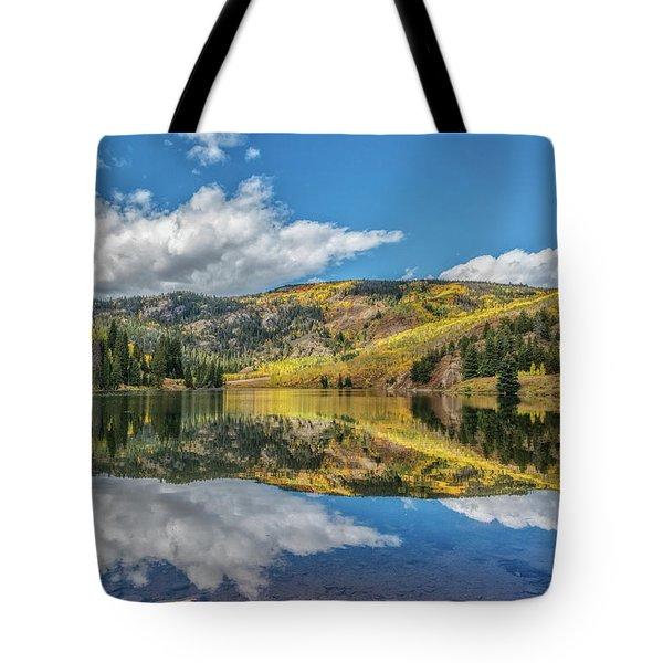 Lower Cataract Lake Aspen Tote Bag by Stephen Johnson