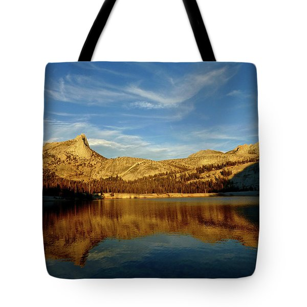 Lower Cathedral Lake Late Afternoon Tote Bag