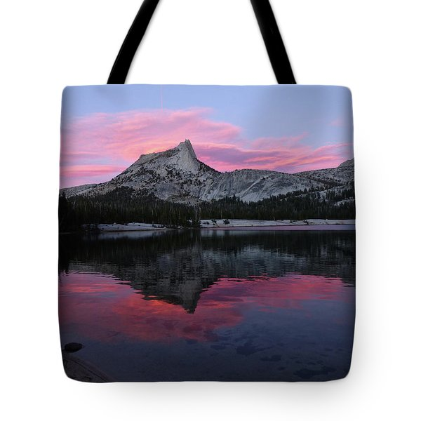 Lower Cathedral Lake Sunset Tote Bag