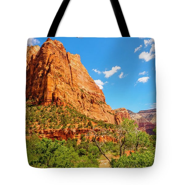 Tote Bag featuring the photograph Lower Emerald Pool Trail - Zion National Park by Penny Lisowski