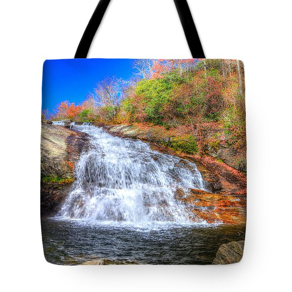 Lower Falls At Graveyard Fields Tote Bag