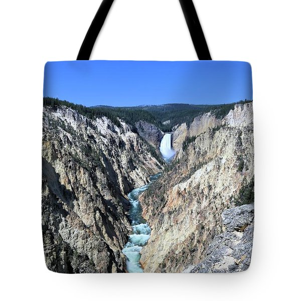 Lower Falls From Artist Point Tote Bag