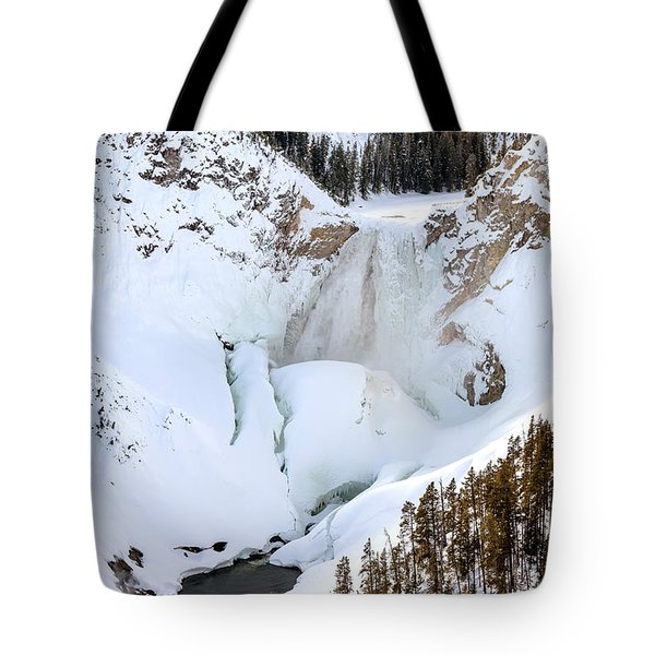 Lower Falls In The Grand Canyon Of The Yellowstone River Tote Bag