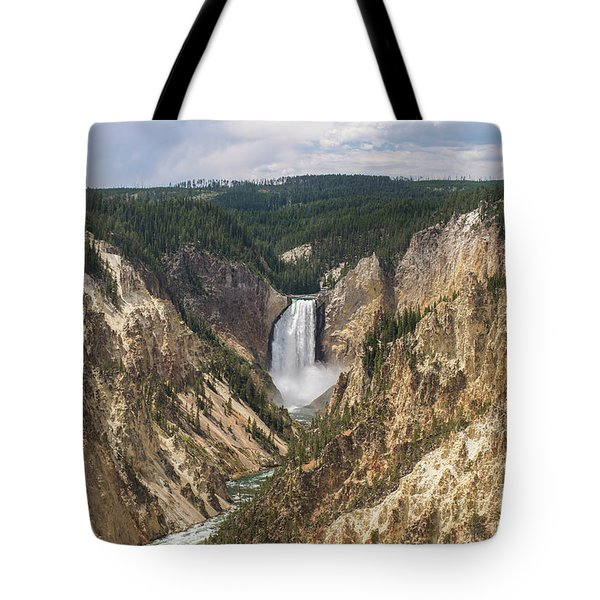 Lower Falls Of The Yellowstone Tote Bag