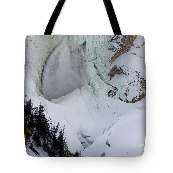 Lower Falls Of Yellowstone II Tote Bag