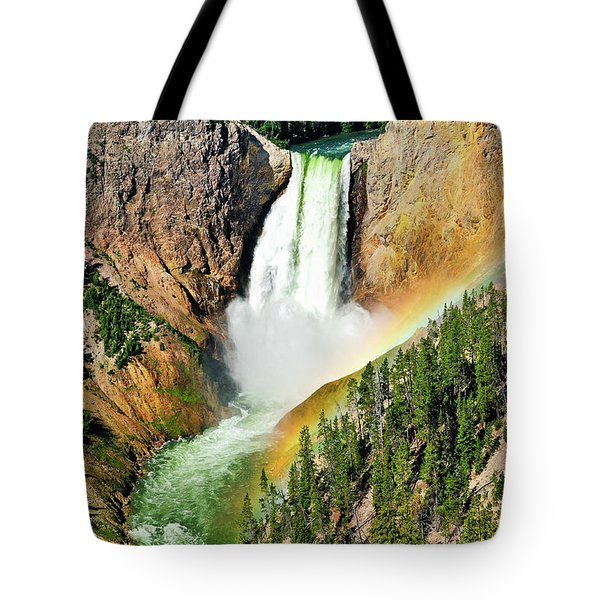 Lower Falls Rainbow Tote Bag by Greg Norrell