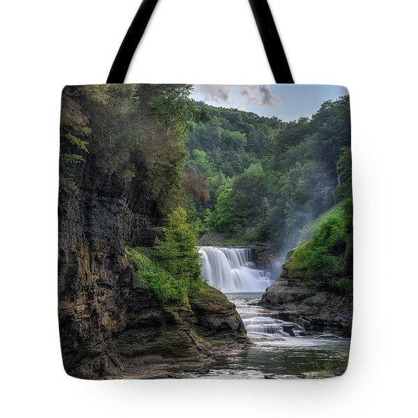 Lower Falls - Summer Tote Bag by Mark Papke