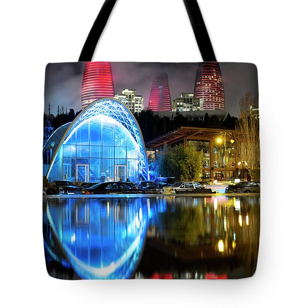 Tote Bag featuring the photograph Lower Funicular Station by Fabrizio Troiani