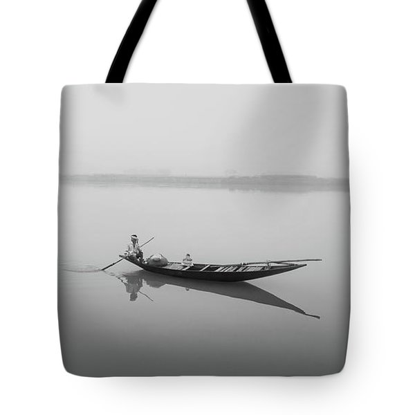 Lower Ganges - Misty Morinings Tote Bag
