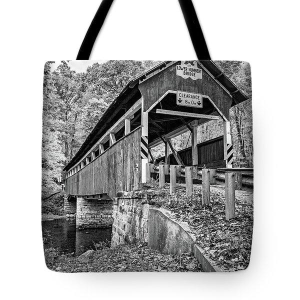 Lower Humbert Covered Bridge 2 Bw Tote Bag