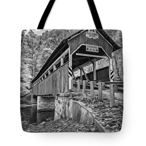 Lower Humbert Covered Bridge 2 - Paint Bw Tote Bag