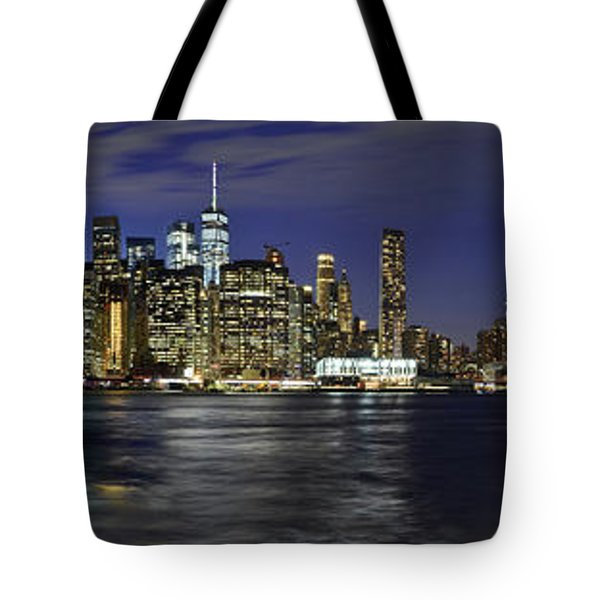 Lower Manhattan From Brooklyn Heights At Dusk - New York City Tote Bag