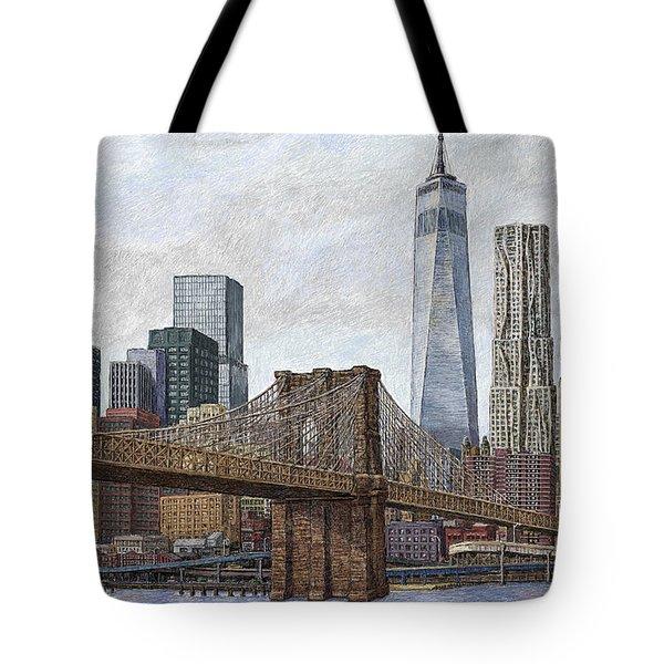 Lower Manhattan Skyline 2 Tote Bag