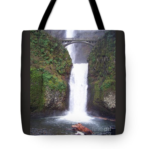 Tote Bag featuring the photograph Lower Multnomah Falls by Charles Robinson