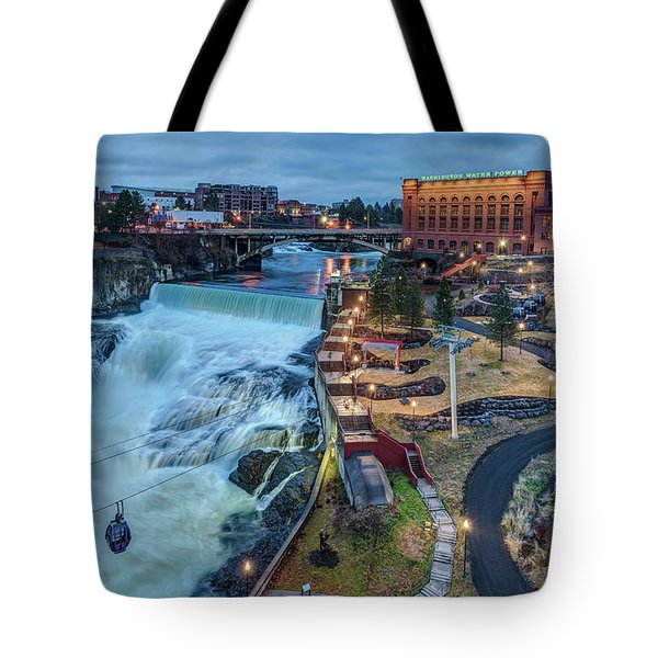 Lower Spokane Falls Early Spring Tote Bag