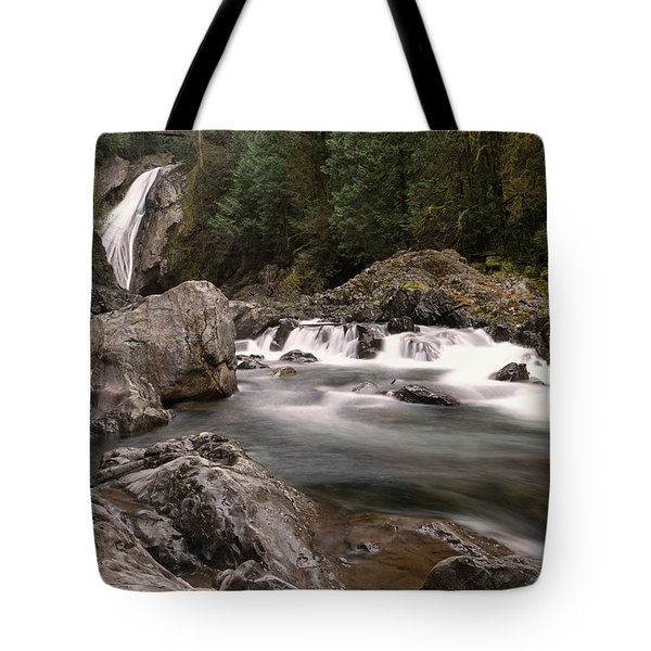 Tote Bag featuring the photograph Lower Twin Falls by Jeff Swan