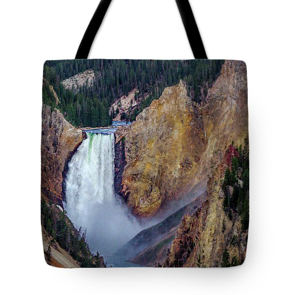 Tote Bag featuring the photograph Lower Yellowstone Falls II by Bill Gallagher