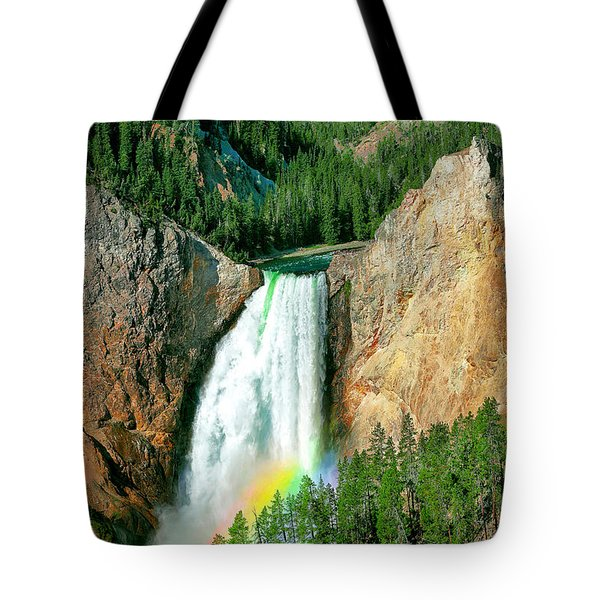 Tote Bag featuring the photograph Lower Yellowstone Falls by Todd Klassy
