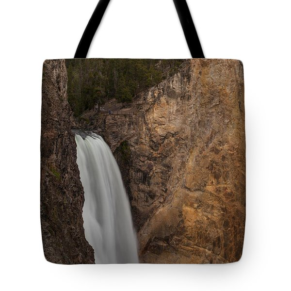 Lower Yellowstone Waterall Tote Bag