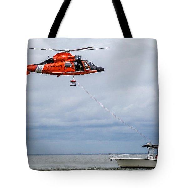 Lowering Rescue Basket Tote Bag